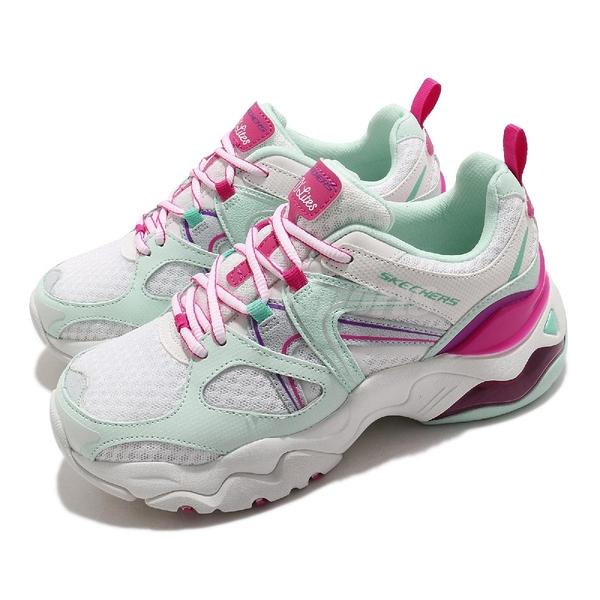 Skechers 休閒鞋 D Lites 3.0 Air-She s Vivid 白 綠 桃紅 女鞋 運動鞋 【ACS】 149261WTQP