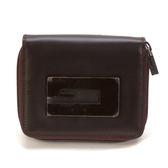 GUCCI 絕版典藏拉鏈短夾零錢包皮夾錢包證件包證件夾證件套卡片包(咖啡色)340204