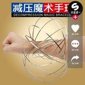 流行歐美流體解壓減壓3D魔術手環 304不銹鋼手環魔幻花樣玩具