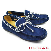 【REGAL】手工磨砂皮帆船鞋 海軍藍(954HR-NVSS)