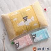 兒童枕巾一條裝純棉枕套可固定卡通枕頭巾【淘夢屋】