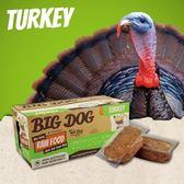 *KING WANG*【免運】(1盒12片入)澳洲BIG DOG(BARF)巴夫《犬用生食肉餅-火雞肉口味》