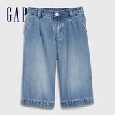Gap 女幼童 時尚水洗直筒牛仔長褲 540768-牛仔藍