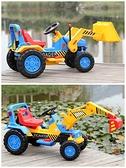 兒童電動挖掘機可坐可騎挖土機電動腳踏玩具車超大號工程車鏟車  -享家