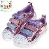 《布布童鞋》SKECHERS_TWI_LITES_金屬光澤星星紫色繽紛兒童電燈帆布鞋(17~23公分) [ N8O81LF ]