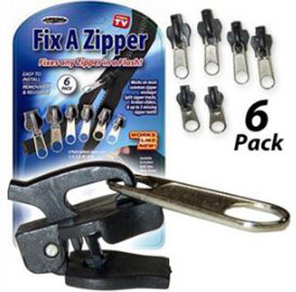 TV拉鍊頭Fix A Zipper 6 Pack Fix 萬能拉鍊頭 49元