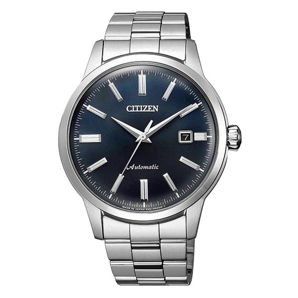 CITIZEN Mechanical摩登復古魅力機械腕錶-銀X藍