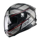 【SOL SF-5 SF5 ALPHA  阿爾法 黑鈦金 全罩 安全帽 】內襯全可拆、內藏鏡片、免運+好禮