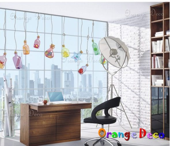 壁貼【橘果設計】漂流瓶 DIY組合壁貼/牆貼/壁紙/客廳臥室浴室幼稚園室內設計裝潢
