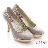 effie 華麗響宴 璀璨亮粉金屬感高跟鞋 粉紅