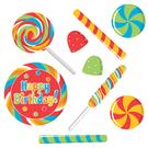 派對 裝飾 佈置 裝飾紙卡9入-糖果派對...