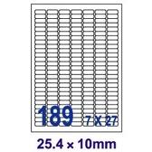 【奇奇文具】 【Unistar 裕德 189格 電腦標籤】 US4344 25.4×10mm (100張/盒)