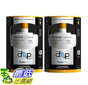 [106美國直購] EveryDrop by Whirlpool Refrigerator Water Filter 8 (Pack of 2)