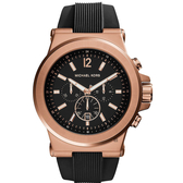 Michael Kors 城市菁英計時手錶-黑/48mm MK8184