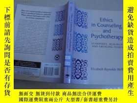 二手書博民逛書店英文原版:Ethics罕見in Counseling and P