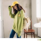 《AB11617-》美式風格笑臉圖案衛衣/長袖上衣 OB嚴選