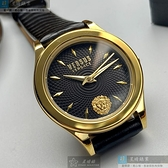 VERSUS VERSACE凡賽斯女錶34mm黑色錶面深黑色錶帶