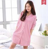 新款夏季女士純棉薄款全棉短袖浴袍衣PLL3201【男人與流行】