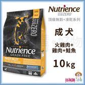 Nutrience紐崔斯『 SUBZERO無穀犬+凍乾 (火雞肉+雞肉+鮭魚)』10kg(22lb)【搭嘴購】