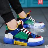 休閒鞋男夏季透氣百搭休閒運動板鞋原宿韓版潮流 【四月上新】