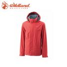 【Wildland 荒野 男 單件式防水透氣外套 橘紅】0A21912-13/防曬外套/薄外套/防水外套