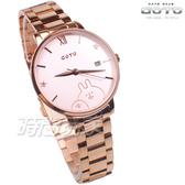 GOTO 羅馬 星星 卡娜赫拉的小動物報時生活 女錶 不銹鋼錶帶 學生錶 玫瑰金 GS0099B-44-841
