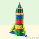 益智拼插積木火箭子彈頭1200粒塑料拼裝4-8歲男孩3-6周歲兒童玩具 歌莉婭