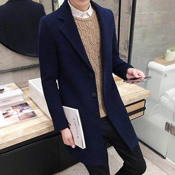 Mao  最新熱銷款經典純色造型百搭休閒商務長版大衣外套