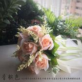 玫瑰新娘結婚手捧花仿真韓式伴娘影樓拍照道具    古梵希