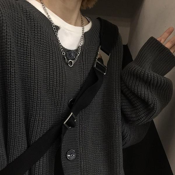 針織開衫 針織衫外套女秋冬韓版復古寬松外穿毛衣開衫潮