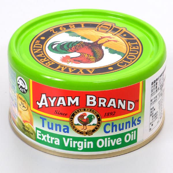 泰國【雄雞標】初淬橄欖油漬塊狀鮪魚 185g