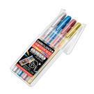 ◎顏色: 亮金.炫銀.水藍,璀紅,4色組合包裝。 ◎1.0mm筆芯。