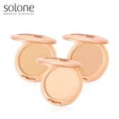 Solone 零妝感淨白保濕粉餅 自然/粉嫩柔膚/白皙 三色可選 ◆86小舖 ◆