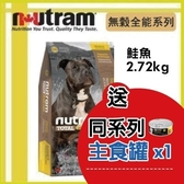 【送同系列主食罐*1】*KING*紐頓nutram《無穀全能-潔牙犬 鮭魚配方T25》2.72kg