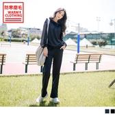 《KS0443》台灣製造~抗UV保暖磨毛腰鬆緊直筒運動長褲 OrangeBear