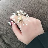 設計款/煙花珍珠食指戒指女夸張大個性 奢華ins戒指女歐美裝飾戒 IV3164 【大尺码女王】