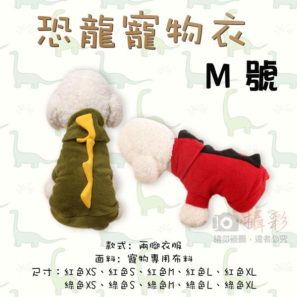 攝彩@恐龍寵物衣 M號 兩腳衣服 連帽T 狗狗恐龍裝 秋冬裝保暖  俏皮立體 多個尺寸 哥吉拉