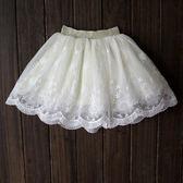 半身裙兒童寶寶純棉短裙子白色百褶蓬蓬裙