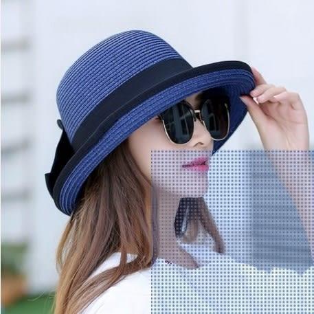 [協貿國際]  女士夏季可折疊太陽帽防曬沙灘帽 (1入)