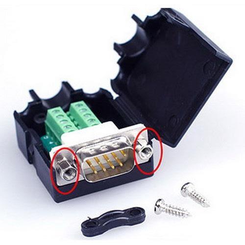 DB9P 公免焊式DIY接頭組合包 (六角螺母)