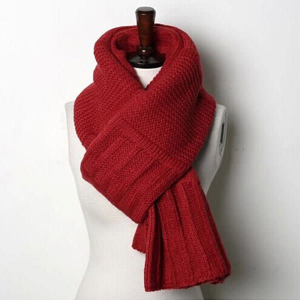 韓風 加長針織毛線 保暖 披肩圍巾 M0005 ◆ 韓妮小熊