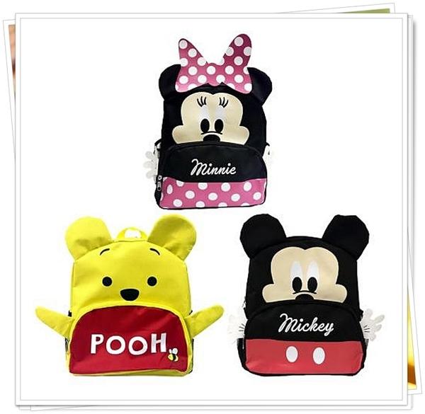 迪士尼 DISNEY 米奇 248776 米妮 248738 小熊維尼 248783 造型兒童後背包 書包