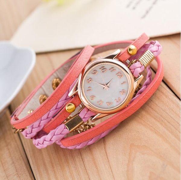 [24H 現貨] [限時特惠] 日本 貝殼面 水鑽 錶盤 情侶錶 手鍊 手環手錶 女錶 功能 飾品 首飾 配件