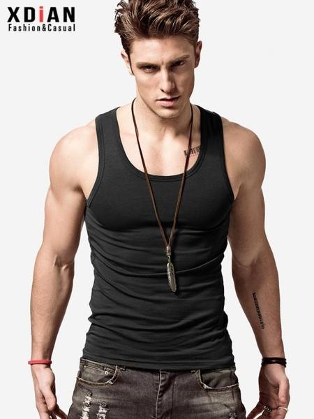 背心純棉背心男士運動健身緊身修身型打底彈力夏季無袖跨欄內穿潮汗衫 JUST M
