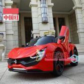 電動跑車 兒童電動車四輪搖控汽車跑車男女寶寶1-6歲小孩 充電玩具車可坐人T 2色