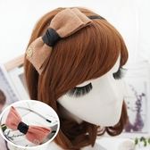 UNICO 韓版時尚 甜美蝴蝶結(玫瑰金屬)髮箍/髮飾