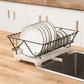 單層水槽洗碗池瀝水架碗碟盤子架碗筷收納盒收納箱廚房置物架碗架 「青木鋪子」