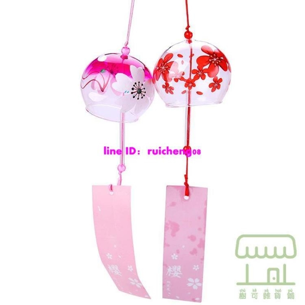 和風風鈴掛飾手工玻璃鈴鐺小清新掛件響鈴【樹可雜貨鋪】