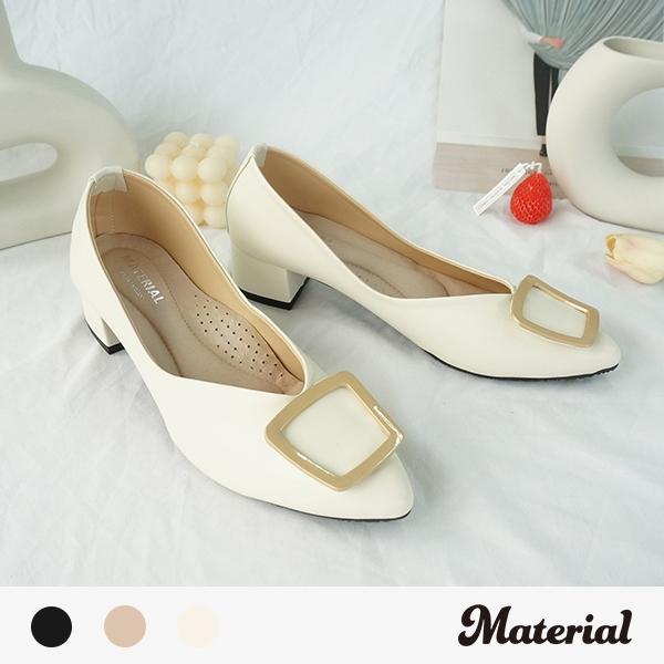 跟鞋 方扣尖頭氣質跟鞋 MA女鞋 T72101