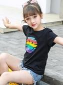 童裝女童短袖T恤2020年新款夏裝6女孩體恤半袖純棉打底衫兒童上衣 童趣